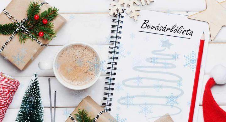 Így éld túl a karácsonyi készülődést.Készíts bevásárlólistát!