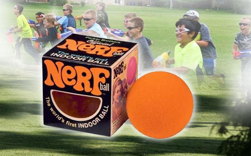 """A Nerf mozaikszó, mely a """"Non-Expanding Recreational Foam"""" kifejezésből tevődik össze"""